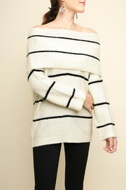 Pretty Little Things Ots Stripe Sweater - Product Mini Image
