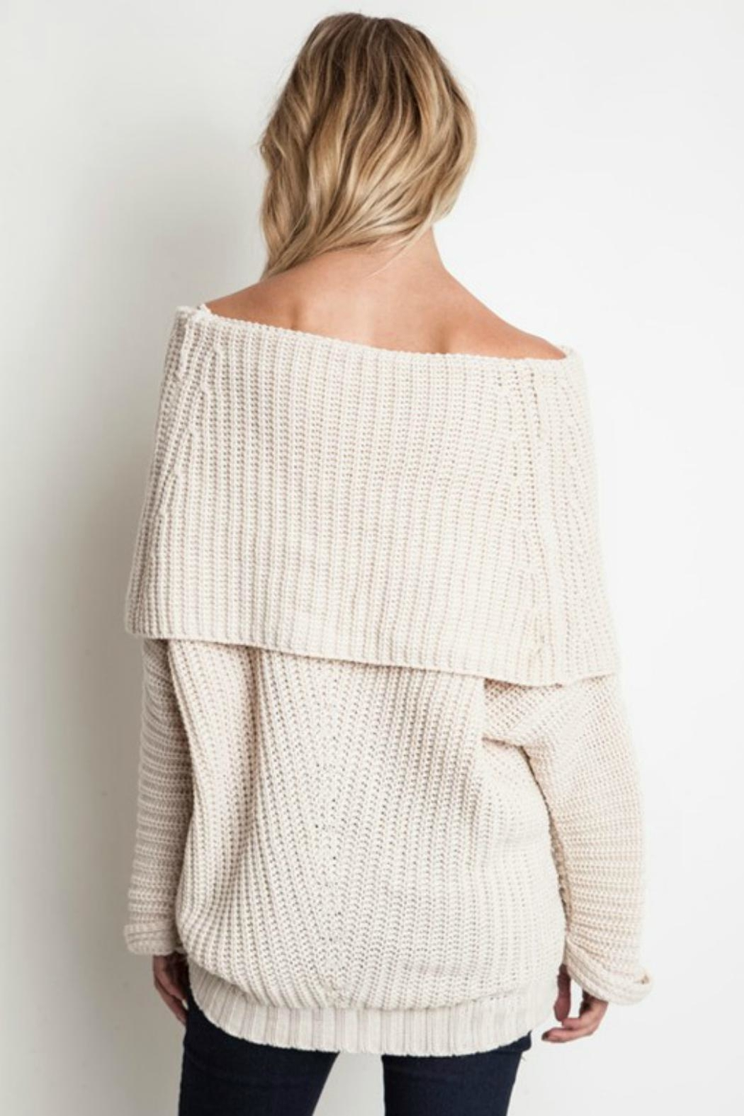 Pretty Little Things Ots Sweater - Front Full Image