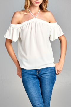 Caramela OTS Tie Neck Top - Product List Image