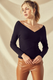 Idem Ditto  OTS Wrap Sweater - Product Mini Image
