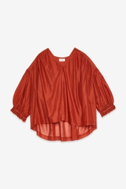 Otto Dame Brique Oversized Blouse - Back cropped