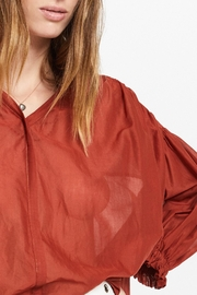 Otto Dame Brique Oversized Blouse - Other