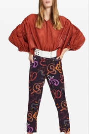 Otto Dame Brique Oversized Blouse - Front cropped
