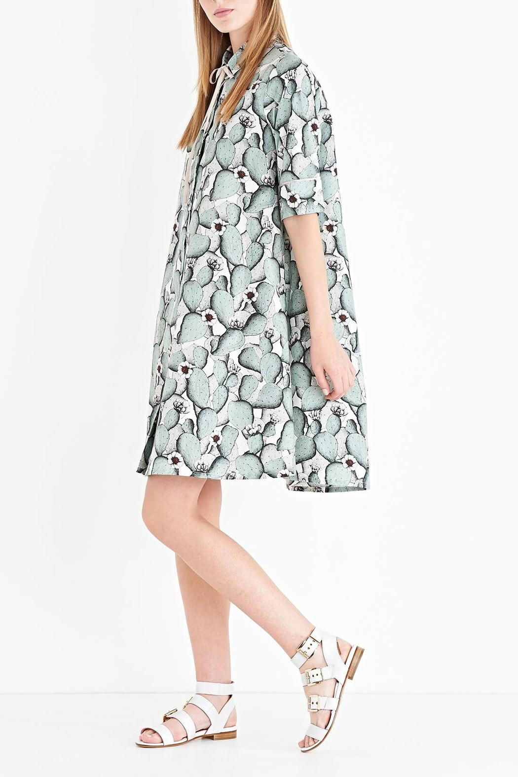 Ottod'ame Cactus Button-Down Dress - Front Full Image