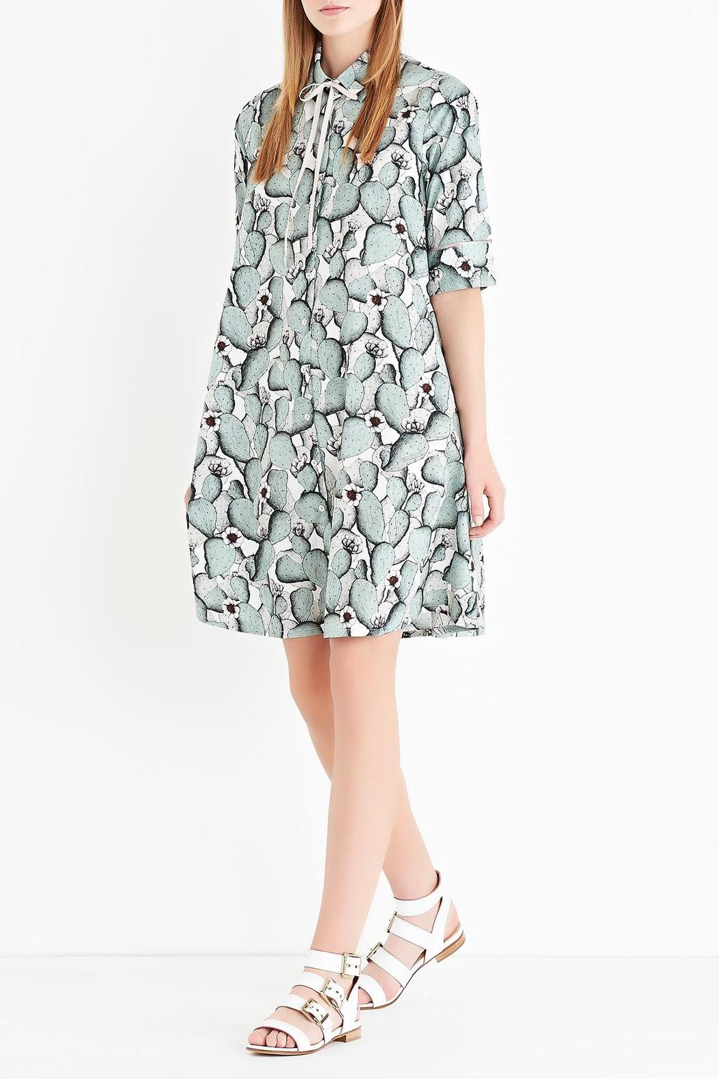 Ottod'ame Cactus Button-Down Dress - Front Cropped Image