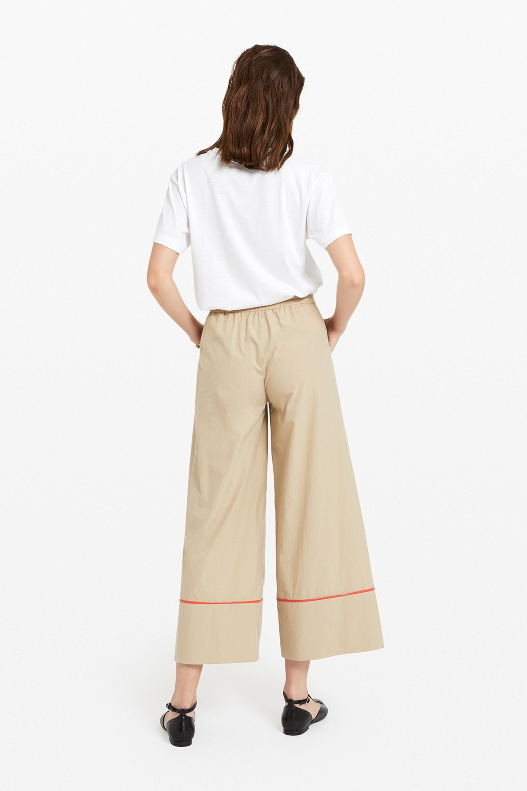 Ottod'ame Cropped Pants - Front Full Image