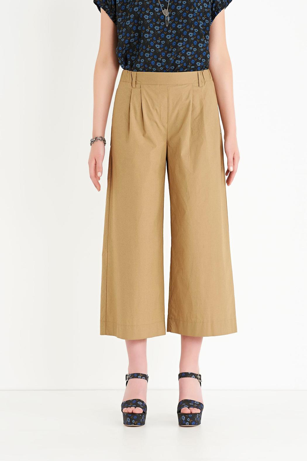 Ottod'ame Cropped Poplin Pant - Main Image