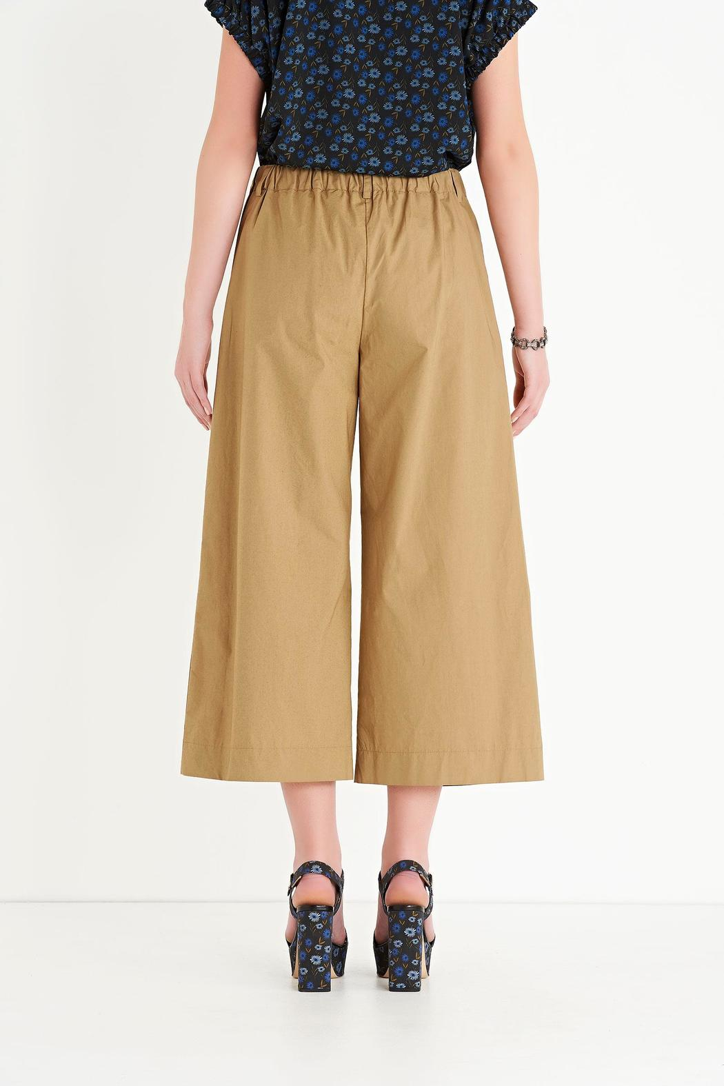 Ottod'ame Cropped Poplin Pant - Front Full Image