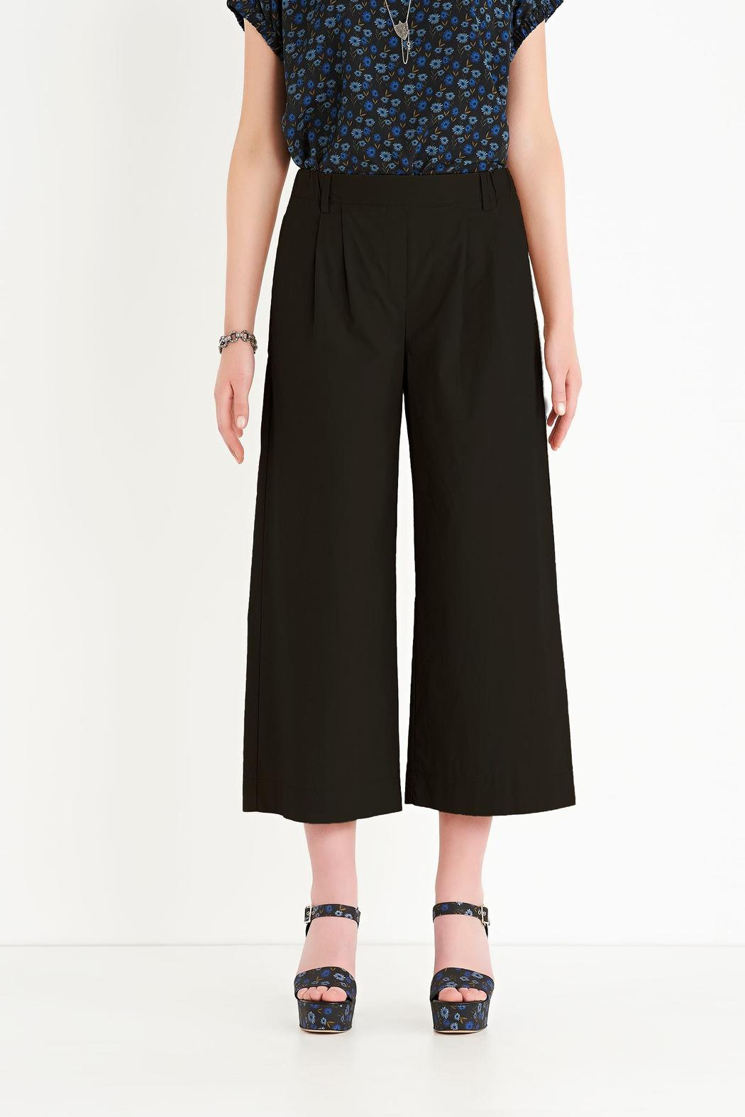 Ottod'ame Cropped Poplin Pant - Front Cropped Image