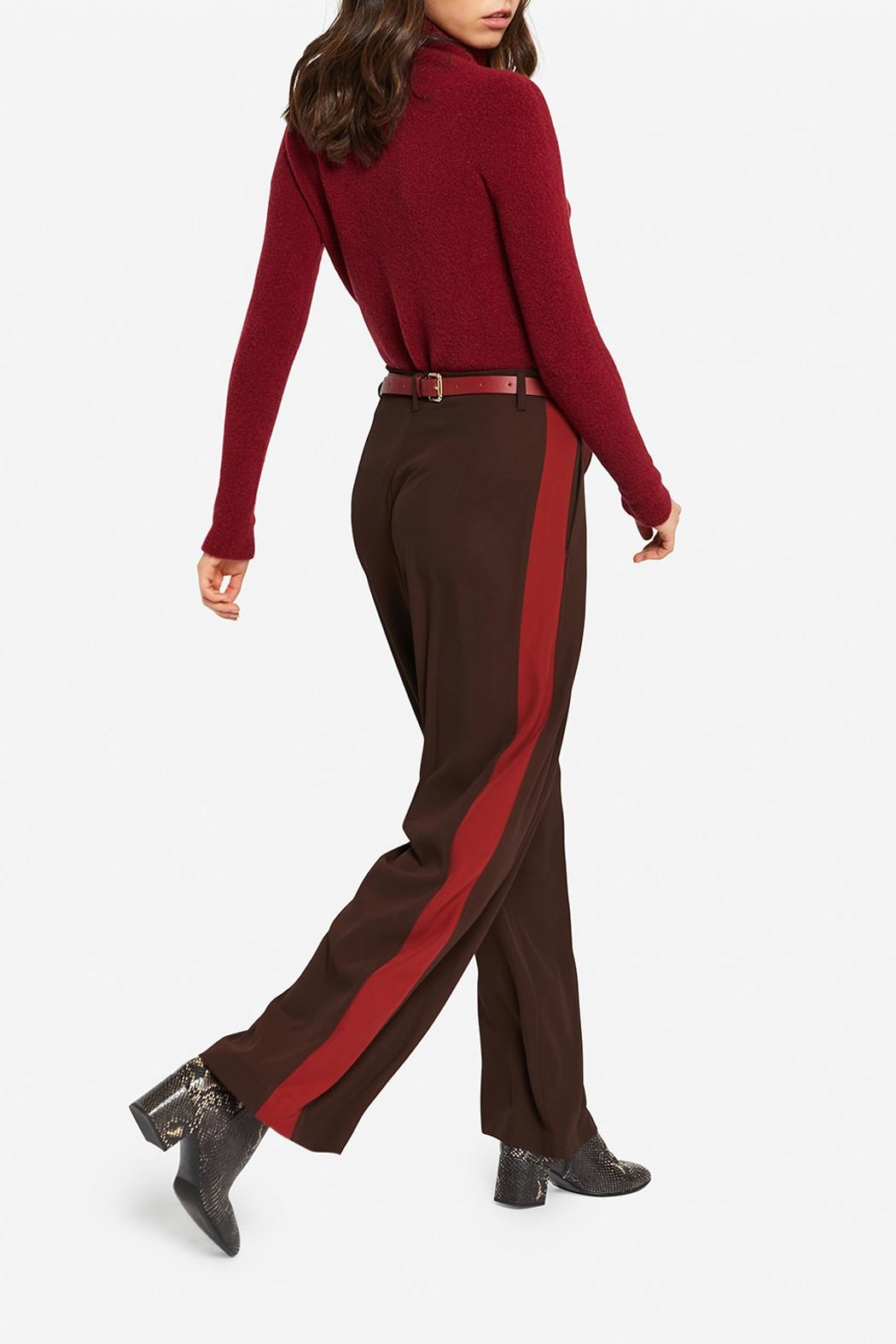Ottod'ame Feminine Palazzo Trousers - Front Full Image