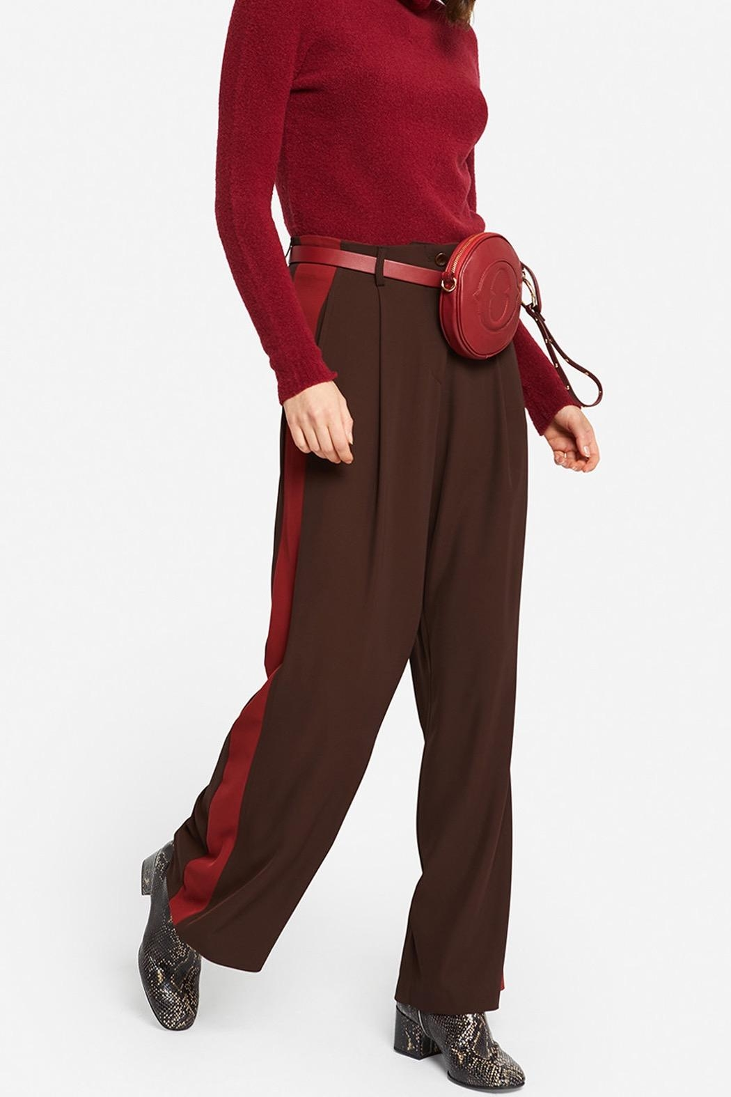 Ottod'ame Feminine Palazzo Trousers - Side Cropped Image