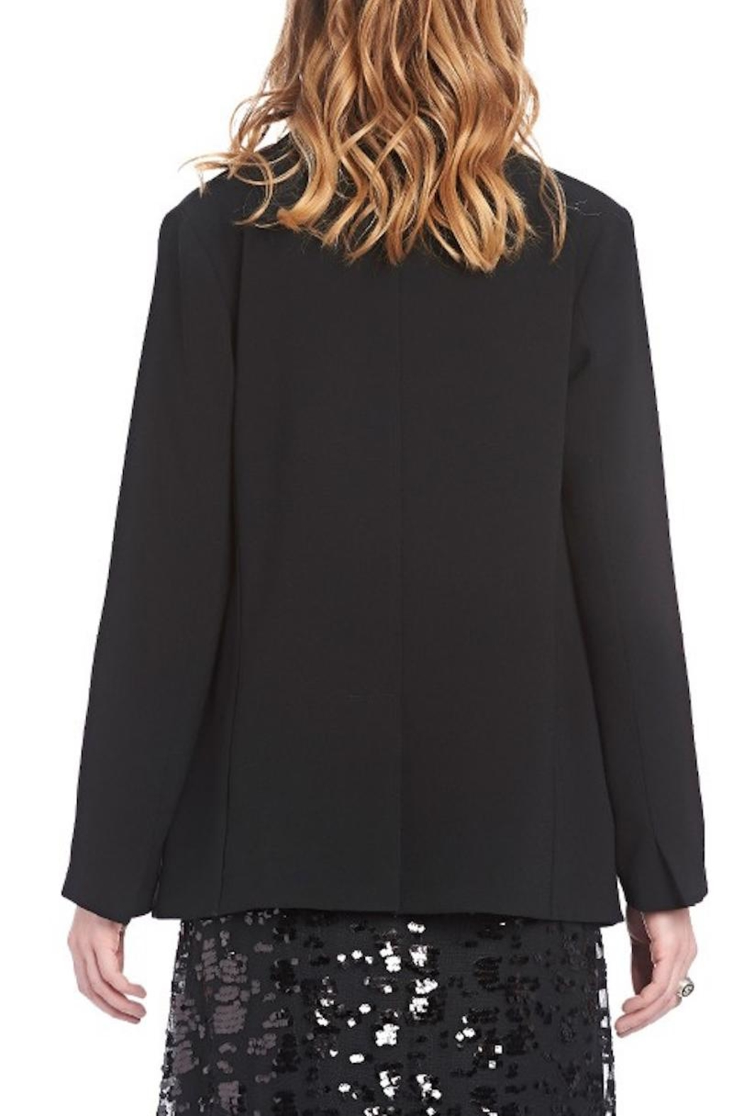 Ottod'ame Flowing Fabric Jacket - Front Full Image