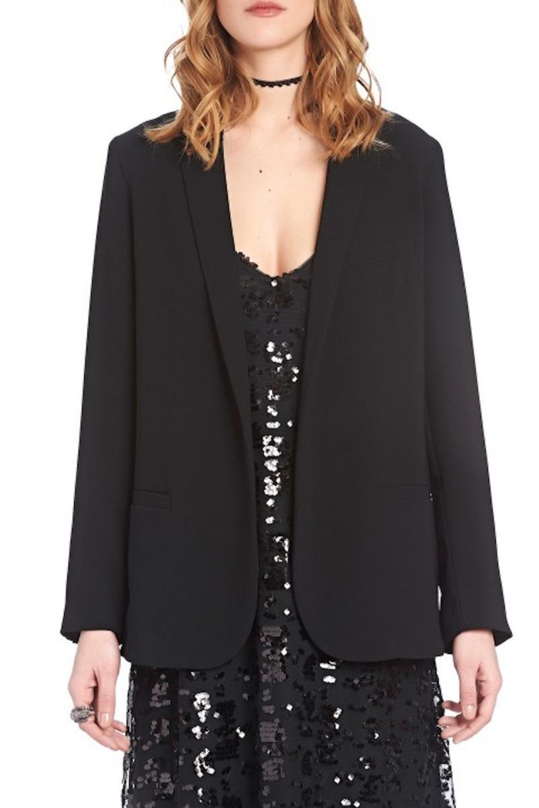 Ottod'ame Flowing Fabric Jacket - Front Cropped Image