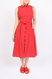 Ottod'ame Midi Tie Dress - Front cropped