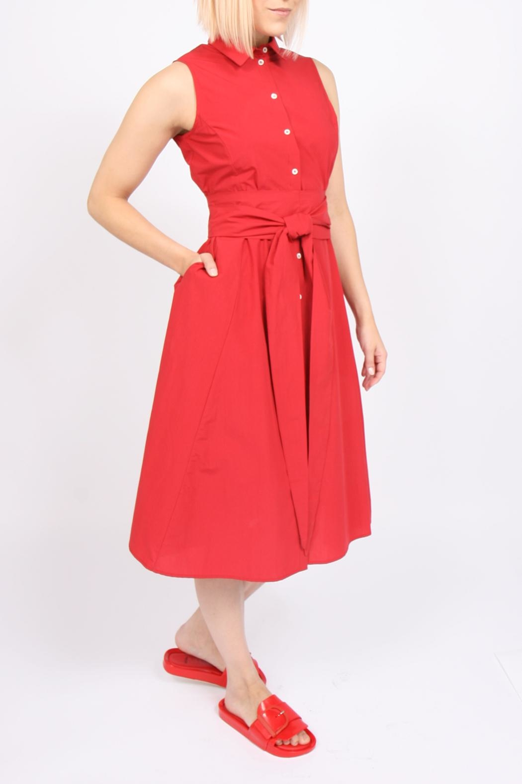 Ottod'ame Midi Tie Dress - Side Cropped Image