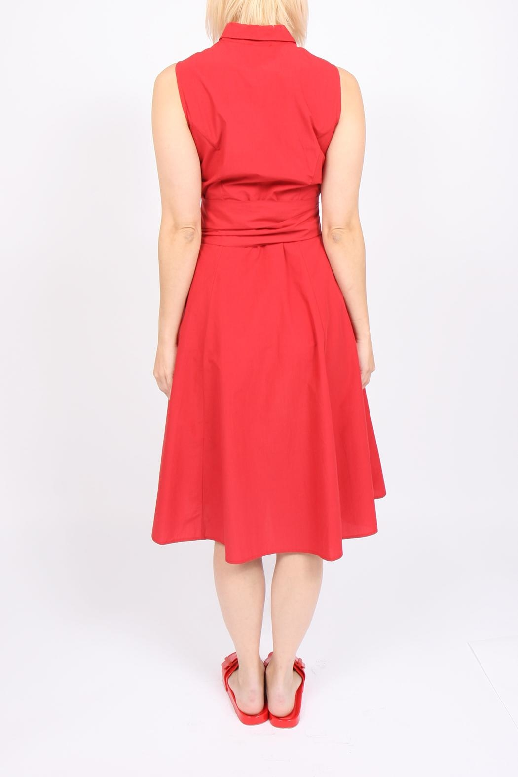 Ottod'ame Midi Tie Dress - Front Full Image