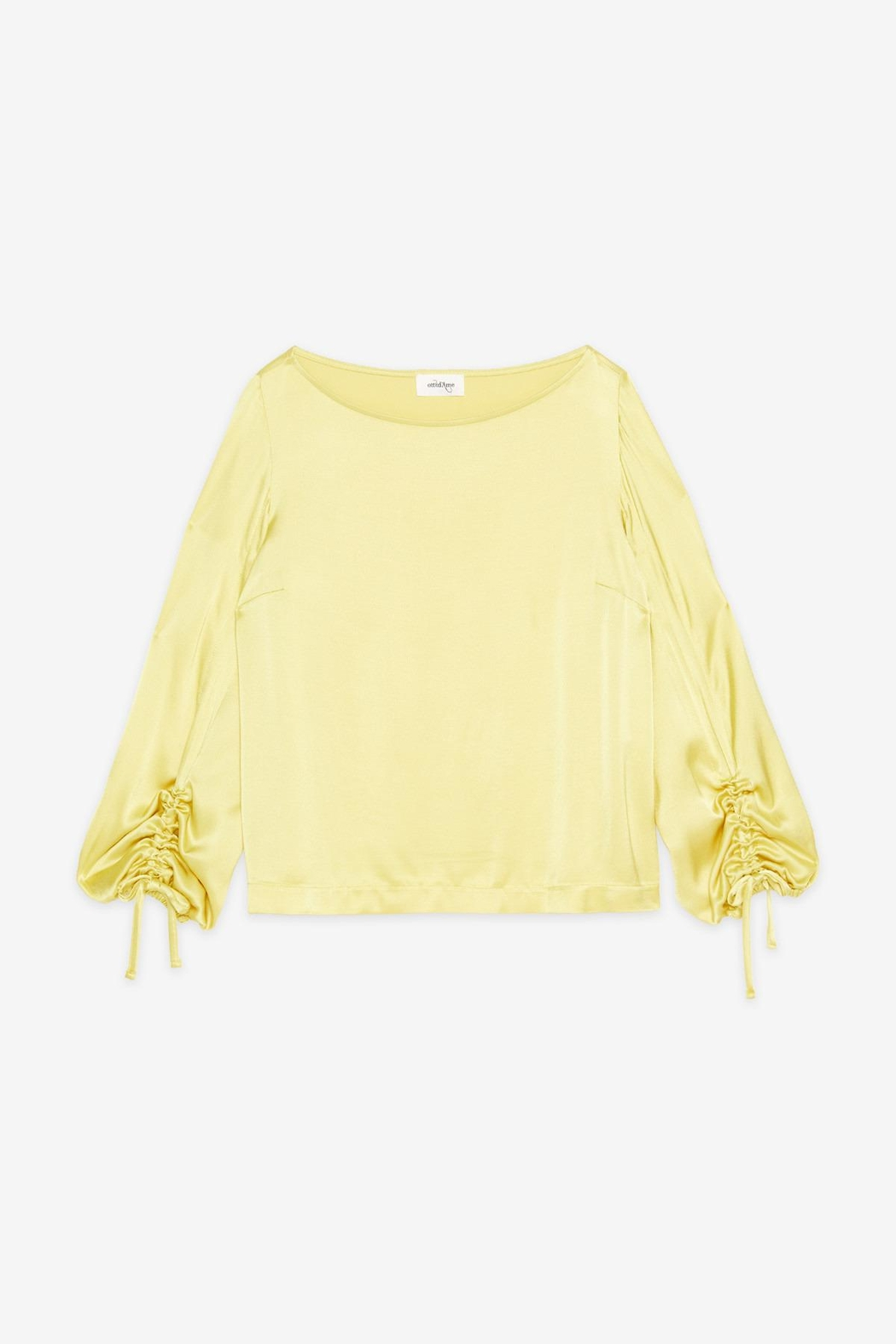 Ottod'ame Satin Blouse - Side Cropped Image