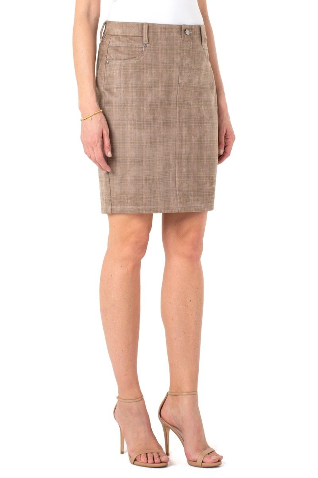 Liverpool  Our faux suede Gia Glider skirt - Main Image