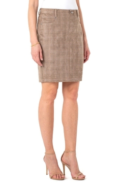 Liverpool  Our faux suede Gia Glider skirt - Product List Image