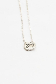 Chocolate and Steel Our Hearts Necklace (Tiny) - Product Mini Image