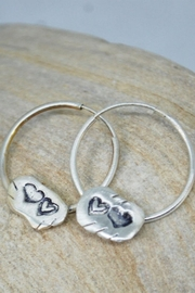 Chocolate and Steel Our Hearts - Small Hoop Earrings - Product Mini Image