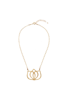 Out of My Hands Lotus Necklace - Product List Image