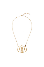 Out of My Hands Lotus Necklace - Product Mini Image