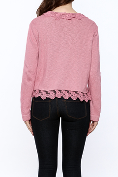 Out Of Xile Pinky Lacey Sweater - Alternate List Image