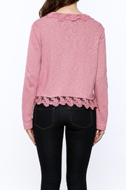 Out Of Xile Pinky Lacey Sweater - Back cropped