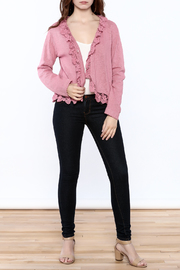 Out Of Xile Pinky Lacey Sweater - Front full body