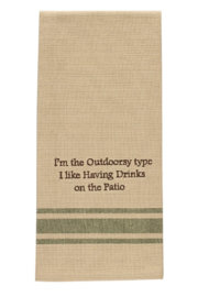Park Designs Outdoorsy Type Dish Towel - Product Mini Image