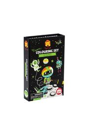 Schylling Outer Space Neon Colouring Set - Product Mini Image