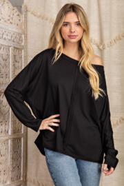 143 Story Outseam Detail Boatneck Top - Product Mini Image