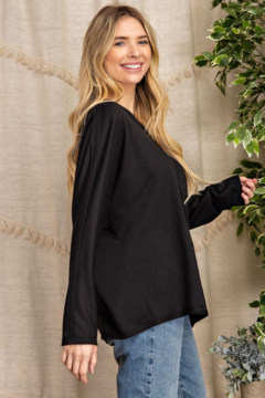 143 Story Outseam Detail Boatneck Top - Alternate List Image