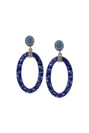 Lets Accessorize Oval Acetate Hoops - Product Mini Image