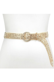 Bella Chic Oval Buckle Rhinestone Belt - Product Mini Image