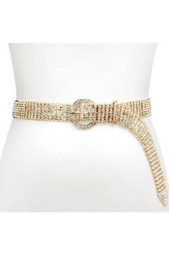 Shoptiques Product: Oval Buckle Rhinestone Belt