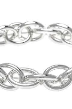 Rain Oval chain links stretch bracelet - Product List Image