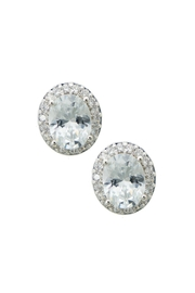 Wild Lilies Jewelry  Oval Crystal Studs - Product Mini Image