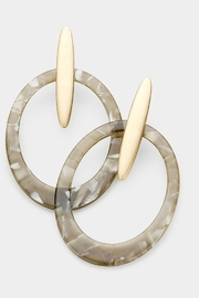 TIGERLILY Oval Cut-Out Earrings - Product Mini Image