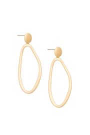Fame Accessories Oval Drop Dangle Earrings - Product Mini Image