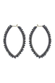 Rush Oval Earrings w Faceted Glass Beads - Product Mini Image