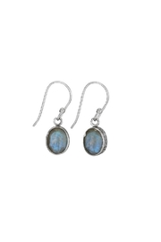 Tiger Mountain Oval Facet Earrings - Product Mini Image