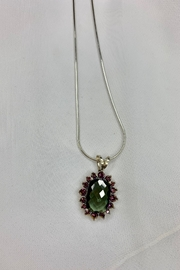 deannas Oval Green and Purple Gemstone Necklace - Product Mini Image