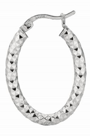 Bling It Around Again Oval Hoop Earrings - Front cropped