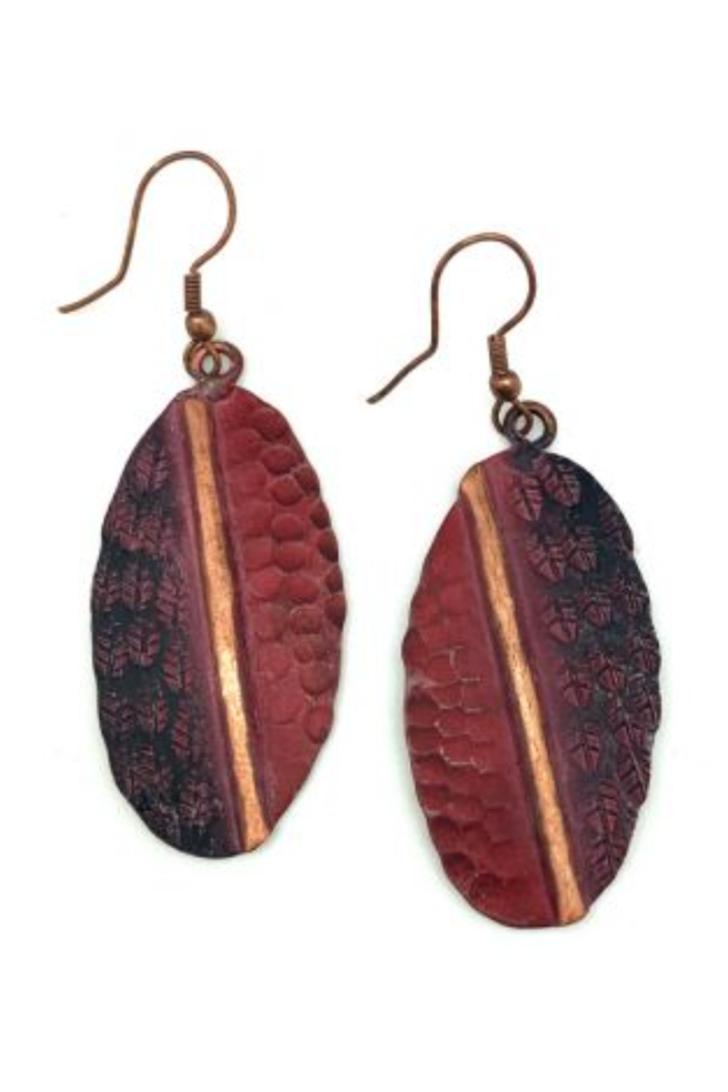 Anju Handcrafted Artisan Jewelry OVAL PINK ER COPPER PATINA - Main Image