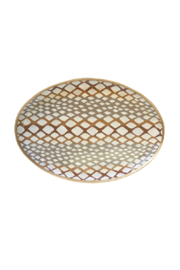 Dana Gibson Oval Python Platter Tray - Front cropped
