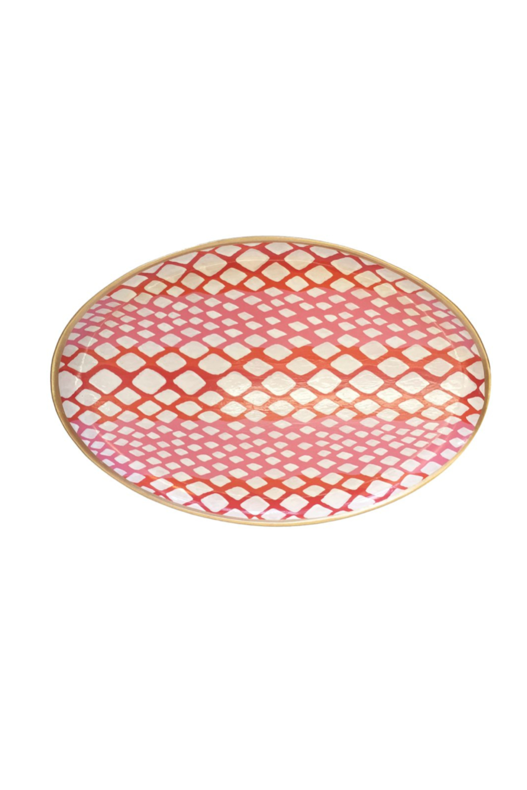 Dana Gibson Oval Python Platter Tray - Front Cropped Image