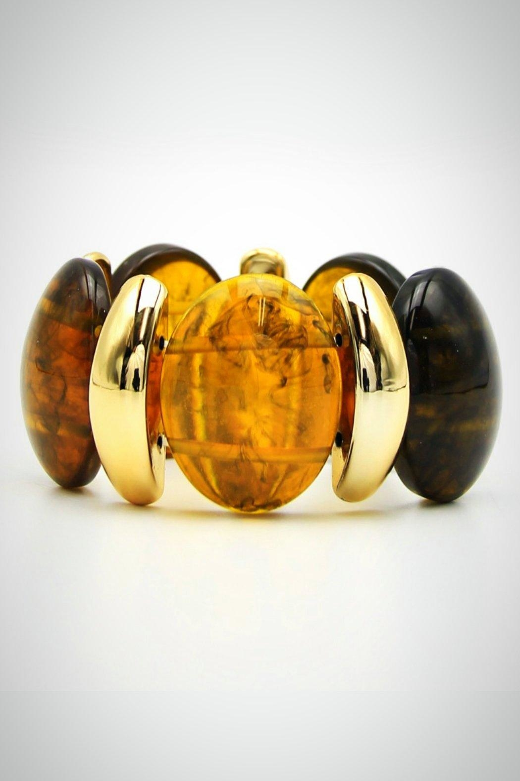 Embellish Oval Resin Bracelet - Main Image