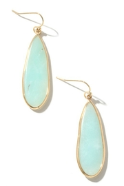 Anarchy Street Oval Stone Charm Dangle Earrings - Front cropped